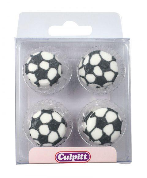 12 Sugar Football Cake Decorations