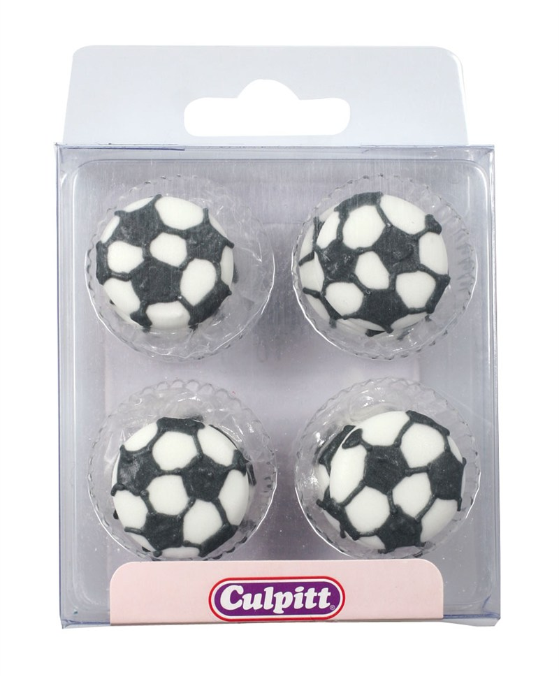 12 Sugar Football Cake Decorations
