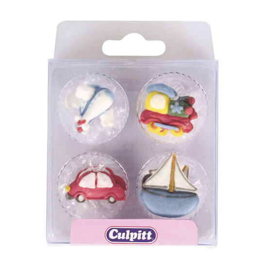 12 Transport Edible Cake Decorations
