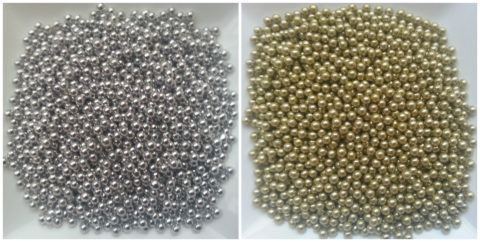 250g 2mm Gold & Silver Edible Dragees