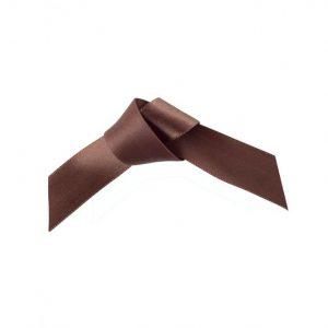 25m Brown Satin Ribbon -  15mm & 25mm
