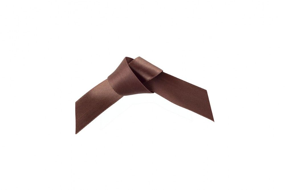25m Brown Satin Ribbon -  15mm & 25mm