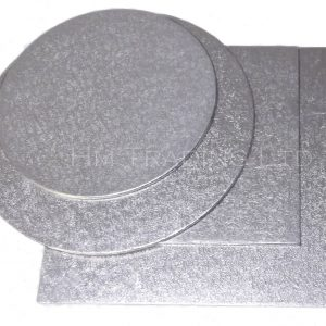 4 Inch Thin 1.5mm Cut Edged Cake Boards (25 Pack)