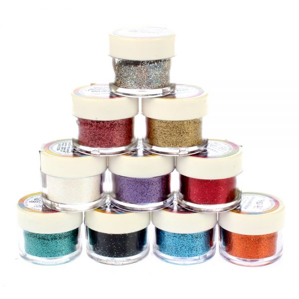 4 Pots of Rainbow Dust Hologram Glitters of  Your Choice