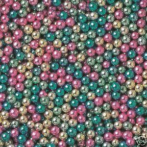 50g 4mm Harlequin Metallic Edible Sugar Balls