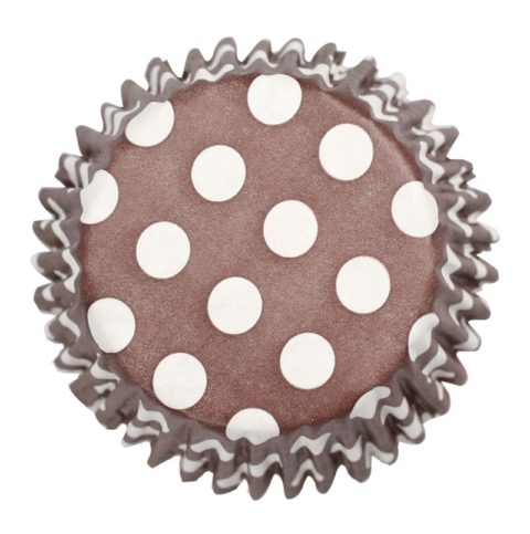54 x Brown Polka Dot Cupcake Cases