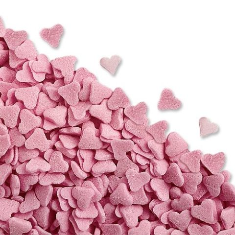 600g Pink Heart Edible Sugar Sprinkles