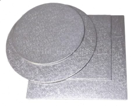 8 Inch Thin 1.5mm Cut Edged Cake Boards (25 Pack)