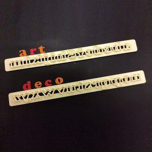 Art Deco Alphabet/Number Lower Case
