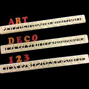 Art Deco Alphabet / Numeral Upper Case