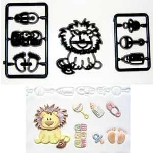 Baby Lion and Nursery Patchwork Cutters