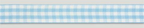 Blue Gingham Ribbon - 25mm x 25m