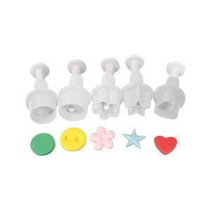 Cake Star Mini Plunger Cutter Set - 5 pieces