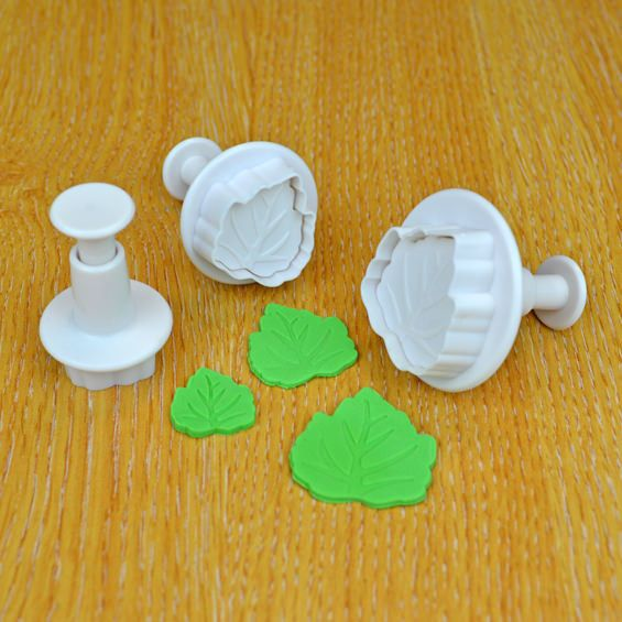 Cake Star Plunger Cutter - Leaf - Set of 3