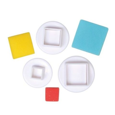 Cake Star Square Plunger Cutters - 3 Set