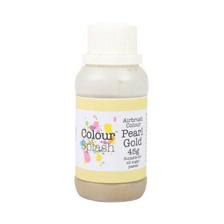 Colour Splash Edible Airbrush Colour – Pearl Gold 45g