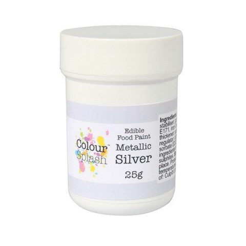 Colour Splash Edible Silver Metallic Paint