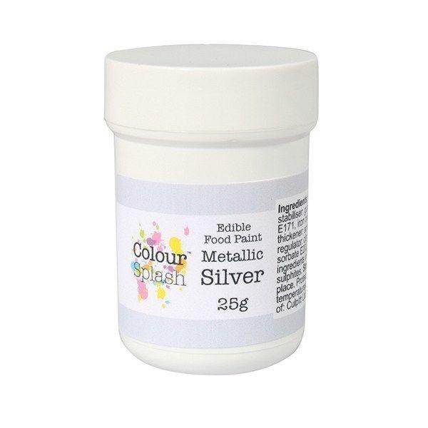 Colour Splash Edible Silver Metallic Paint