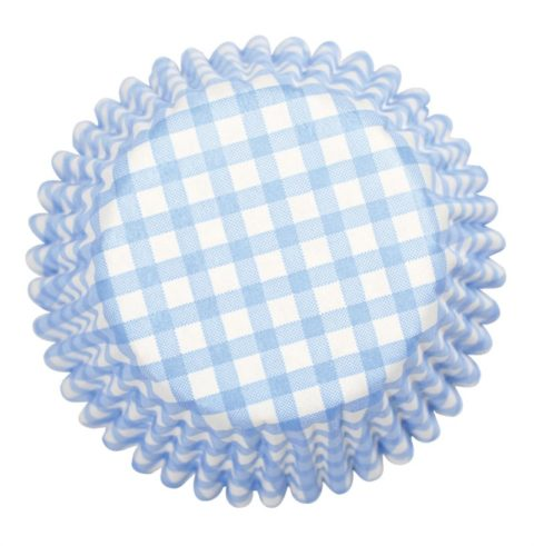 Culpitt 54 x Blue Check Cupcake Cases