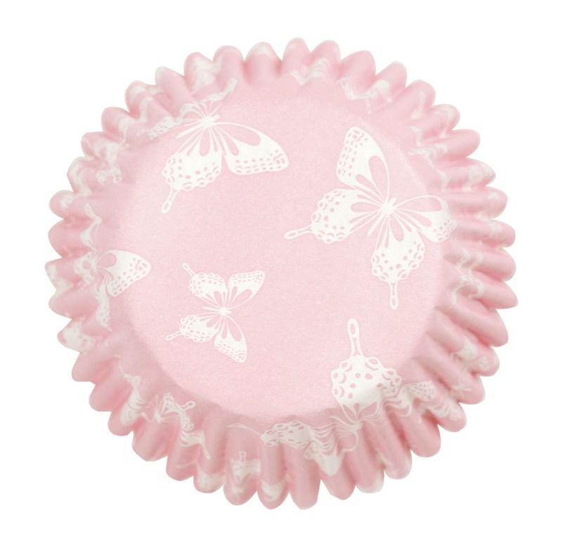 Culpitt 54 x Pink ButterFly Cupcake Cases