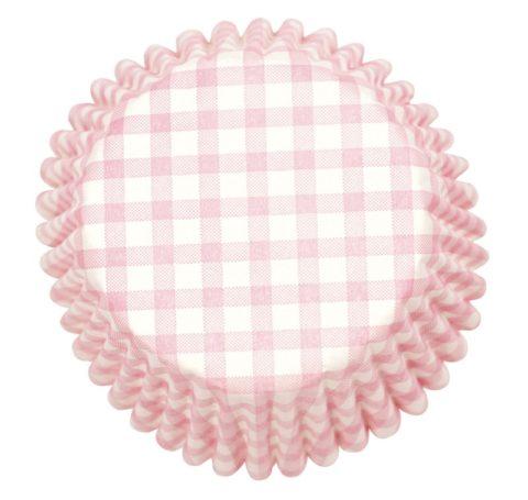 Culpitt 54 x Pink Check Cupcake Cases