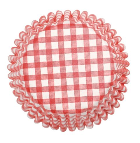 Culpitt 54 x Red Check Cupcake Cases