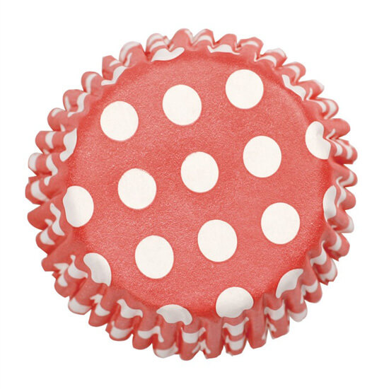 Culpitt 54 x Red Polka Dot Cupcake Cases