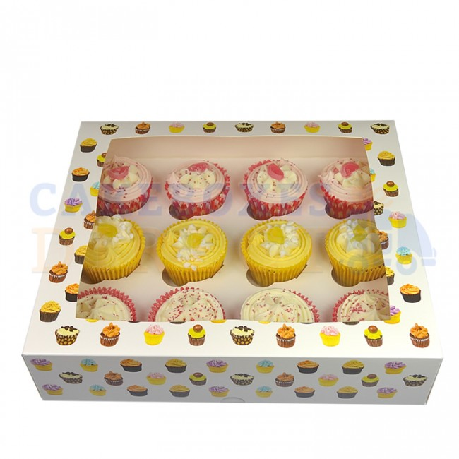 Cupcake Patterened Boxes holds 12