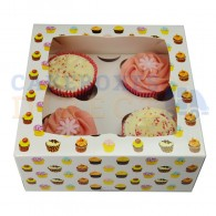 Cupcake Patterned Boxes holds 4