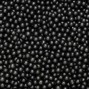 Edible 4mm Black pearlised pearl dragee sugar balls - Party & cake decorations