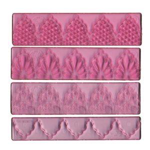 FMM 4 Piece Textured Lace Set 1
