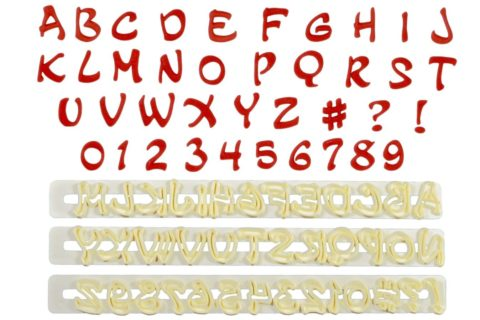 FMM Magical Alphabet & Numeral Tappit Sugarcraft Letter Cutters