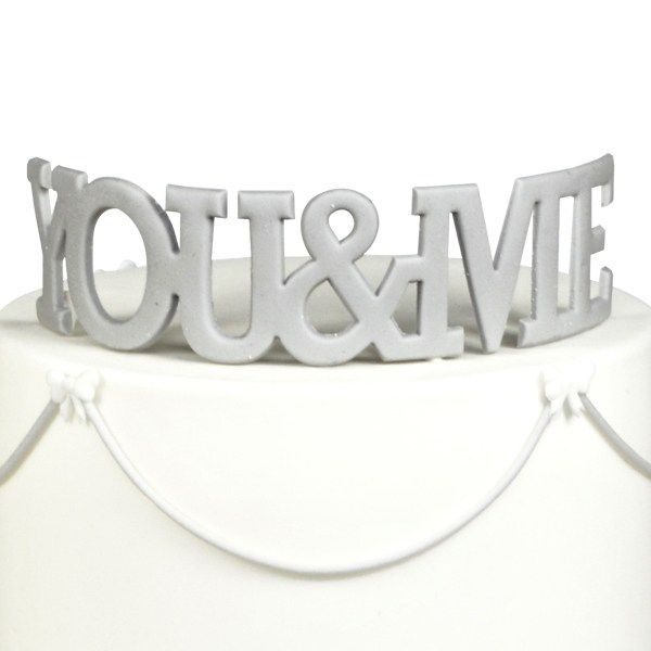 FMM 'You & Me' Large Cutter - Curved Words