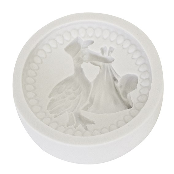 Katy Sue Baby Stork Silicone Mould