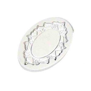 Katy Sue Decorative Plaque Oval Hearts Silicone Mould