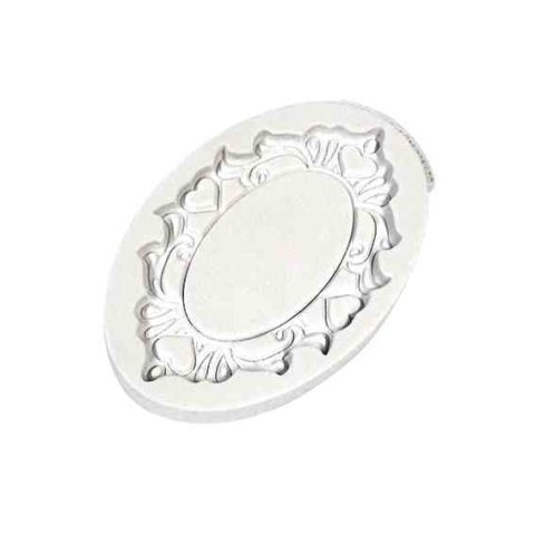 Katy Sue Decorative Plaque Oval Hearts Silicone Mould