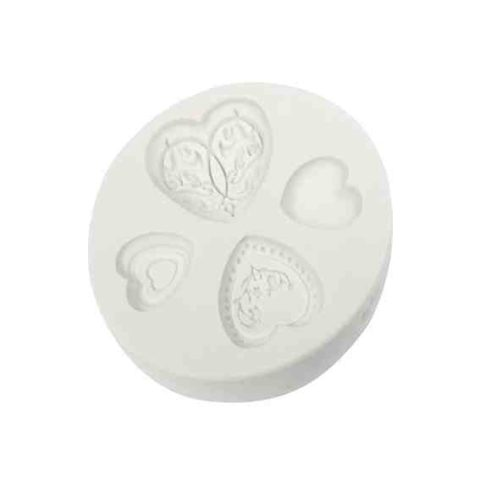 Katy Sue Elegant Heart Silicone Mould