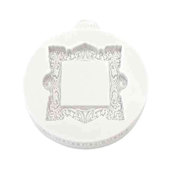 Katy Sue Miniature Frames Vintage Square Silicone Mould