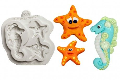 Katy Sue Moulds: Button - Starfish and Seahorse