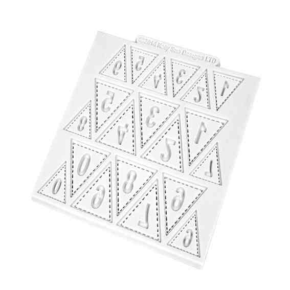 Katy Sue Numbers Bunting Silicone Impression Mat