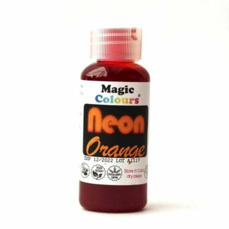 magic colours neon orange food colouring