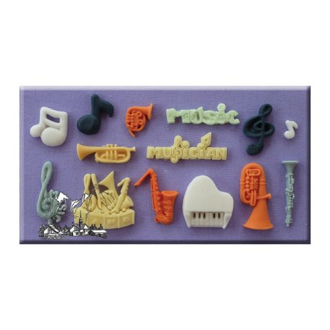 Music Themed Mould By Alphabet Moulds