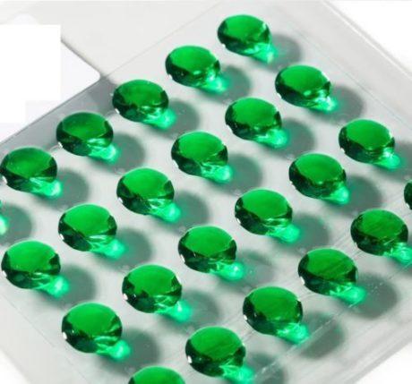 Pack of 48 Diamond 10mm Edible Jelly Cake Gems
