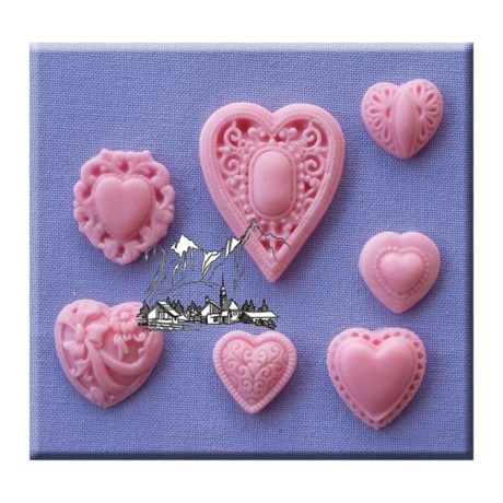 Patterened Heart Mould By Alphabet Moulds
