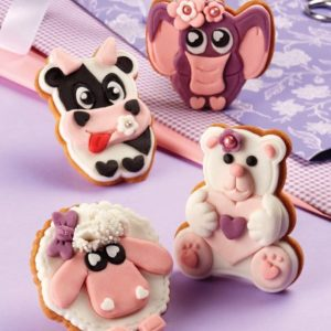 Pavoni Plunger Cutters Funny Animals 4 piece