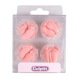 Pink Pairs of Feet Sugar Pipings