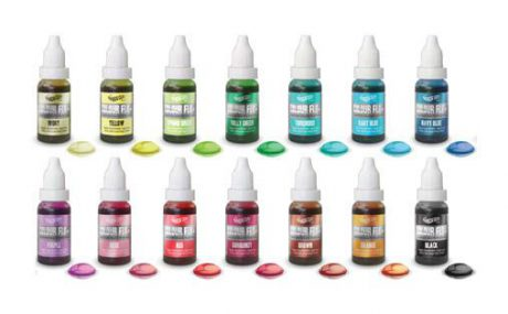 Rainbow Dust Colour Flo Liquid Food Colouring /Air Brush Paint colour 16ml