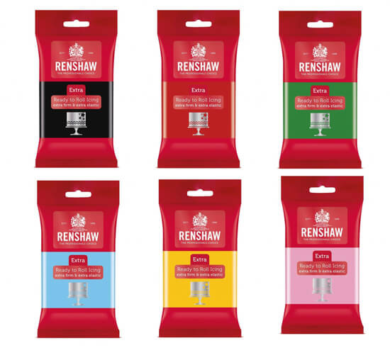 Renshaw Extra Ready to Roll Icing 250g Packs