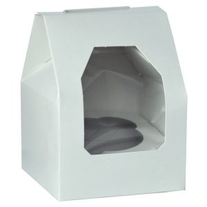 Single -white cupcake boxes