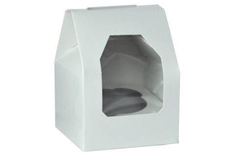 Single -white cupcake boxes